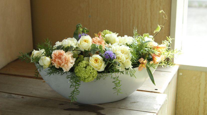 うきうき花レシピ パステル色の母の日アレンジ