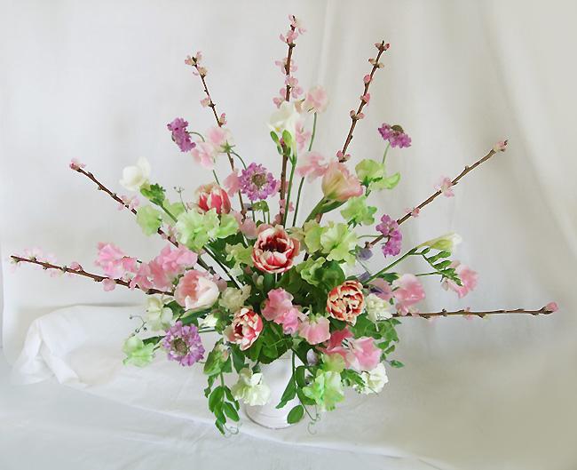 桃の飾り扇
